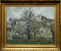 「春、プラムの花咲く菜園、ポントワーズ」